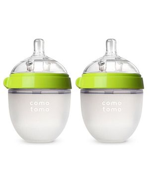Comotomo Natural Feel Baby Bottle Green Pack Of 2 - 150 ml