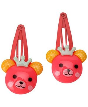 Pikaboo Teddy Snap Clip Set Of 2 - Blush Color