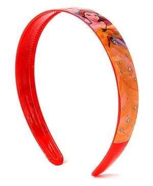 Disney Princess Printed Hair Band - Orangish Red