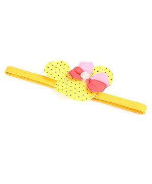 Disney Headband With Bow Applique - Yellow