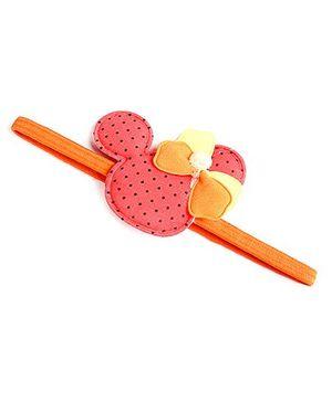 Disney Headband With Bow Applique - Orange