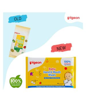 Pigeon Hand And Mouth Wipes 40 Pieces - Pack Of 2
