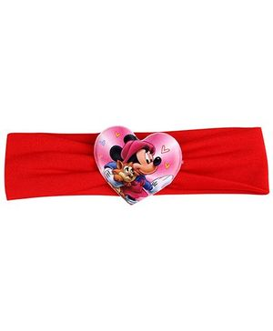 Disney Headband Mickey Mouse And Cat Graphic - Red