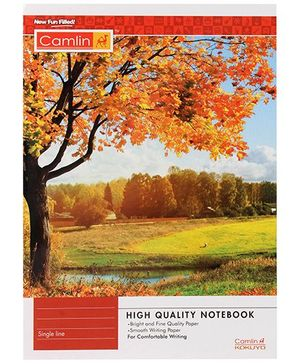Camlin Single Line Notebook Orange - 180 Pages