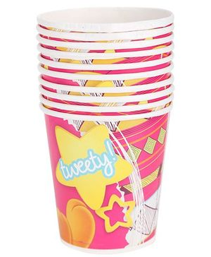 Tweety Paper Party Cups Pink - Pack Of 10
