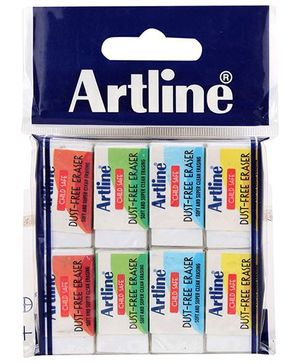 Artline Examate Child Safe Dust Free Erasers Small - Pack of 8