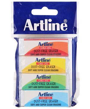 Artline Examate Child Safe Dust Free Erasers Large - Pack of 4