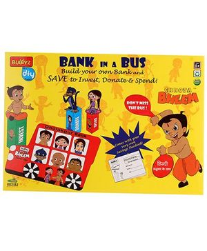 Chhota Bheem DIY Bank In A Bus - Multicolour