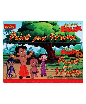 Chhota Bheem DIY Paint Your Frame - Multicolour