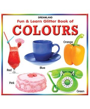 Fun And Learn Glitter Book Colours - English
