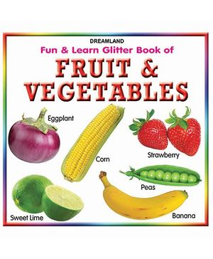 Fun And Learn Glitter Fruit And Vegetables Book - English