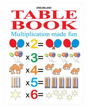 Table Book Multiplication Made Fun - English