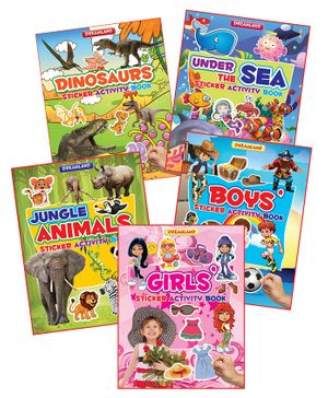 Sticker Activity Book - Pack  5 Titles - English