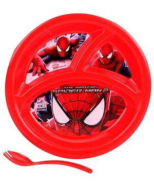 Spiderman Partition Plate - Red