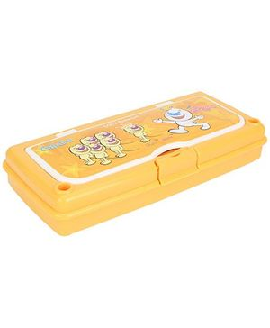 Pratap Hy Class Plastic Pencil Box Set - Yellow