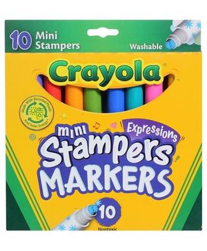 Crayola - Mini Stampers Expressions Washable Markers