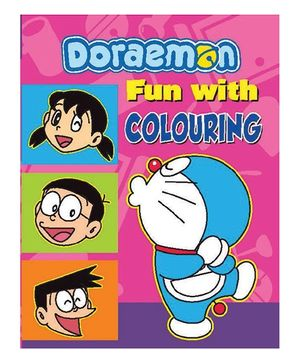Doraemon Fun With Colouring Book - English