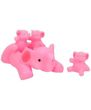 Baby Bath Toys Elephant Shape Pack Of 4 - Pink