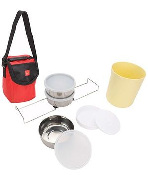 Cello Homeware Fun And Food Lunch Pack 3 Container - Red And Black