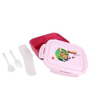 Cello Homeware Porsche Lunch Box Bheem Print - Pink