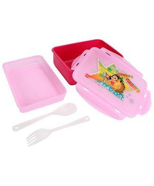 Cello Homeware Polo Lunch Box Yummy Tummy Print - Pink
