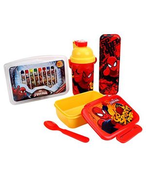 Spider Man School Kit Set of 4 - Red And Yellow