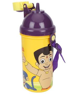 Chhota Bheem Sipper Water Bottle Purple Yellow - 500 ml