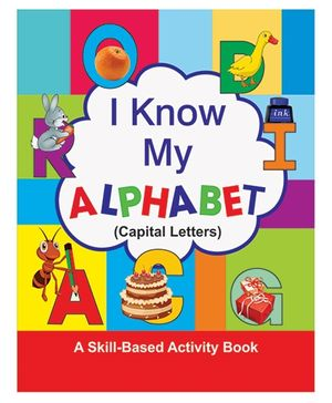 I Know My Alphabet Capital Letters Book - English