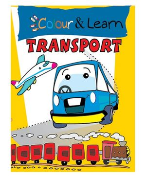 Colour And Learn Transport Book - English