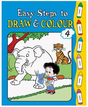 Easy Steps To Draw And Colour Book 4 - English