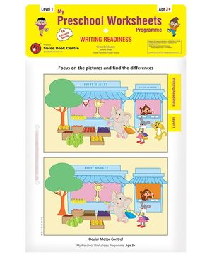 My Preschool Worksheets Programme Writing Readiness Level 1 - English