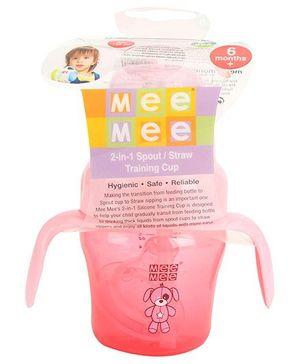 Mee Mee Straw Training Cup Peach - 150 ml