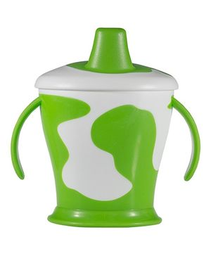 Lovi Cow Cup With Handles Green - 250 ml