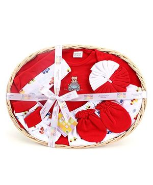 Mee Mee 7 Pieces Baby Gift Set - Dark Red