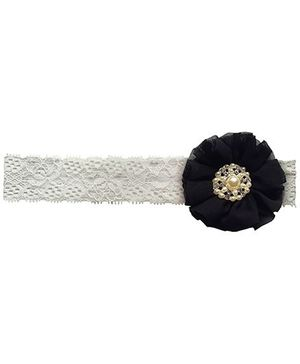 Little Cuddle Lace Baby Headband - Black