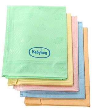 Babyhug Pearl Finish Plastic Bed Protector Sheet Large - Set of 5