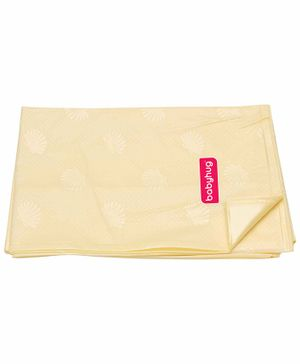 Babyhug Pearl Finish Plastic Bed Protector Sheet Extra Large - Yellow