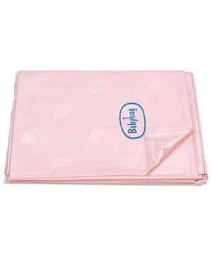 Babyhug Pearl Finish Plastic Bed Protector Sheet XXL - Pink