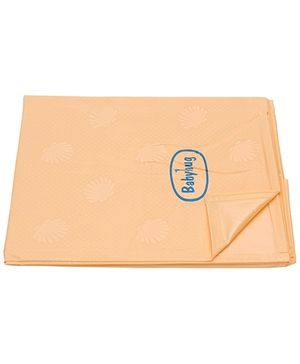 Babyhug Pearl Finish Plastic Bed Protector Sheet XXL - Peach