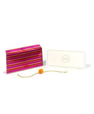 PAPIER Striper Orange & Pink Rakhi Envelope Set