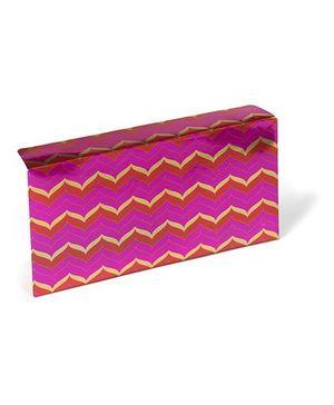 PAPIER Chevron Orange & Pink Set of 6 Envelope