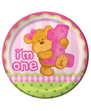 Cuddly Bears Girls Plates