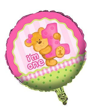 Cuddly Bears Girls Foil Balloons