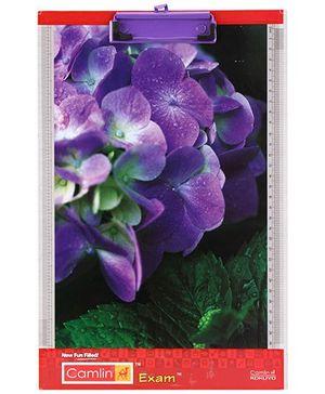 Camlin Exam Pad Flower Print - Purple