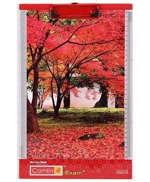 Camlin Exam Pad Tree Print - Red