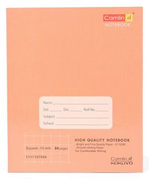 Camlin Square Notebook Brown - 84 Pages