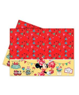 Disney Minnie Mouse Plastic Tablecover - Red