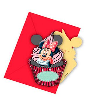 Disney Minnie Mouse Die-cut invitations & Envelopes - 6 Cards