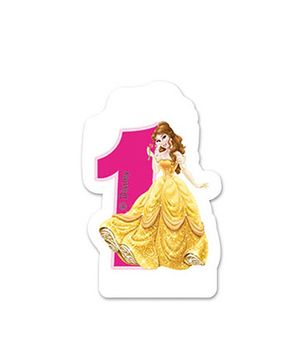 Disney Princess Birthday Numeral 1 Candle - 2.5 inches