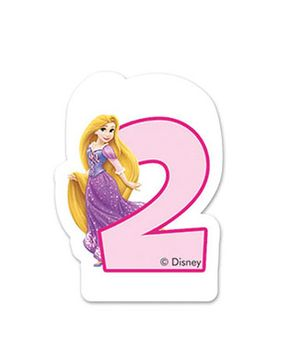 Disney Birthday Numeral 2 Candle - 2.5 inches